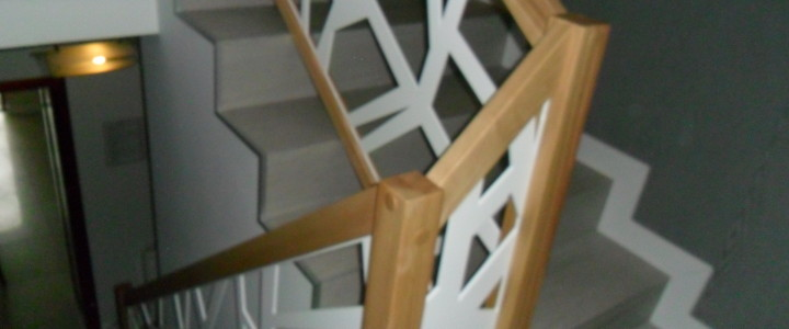Laser – balustrada stalowa cnc