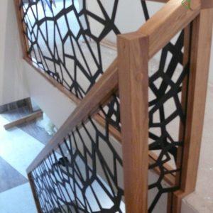 Schody dywanowe + balustrada laserowa cnc