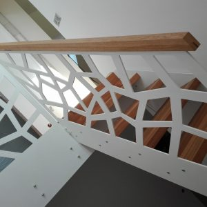 Schody z balustrada laser cnc
