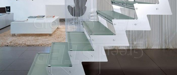 Tokyo Glass – nowoczesne  schody szklane