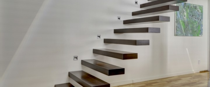 Półkowe Roma  – nowoczesne schody wystające ze ściany